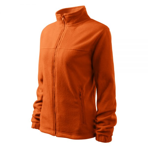 Bluza fleece dama Jacket portocaliu