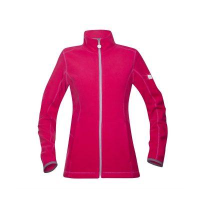 bluza fleece de dama floret roz