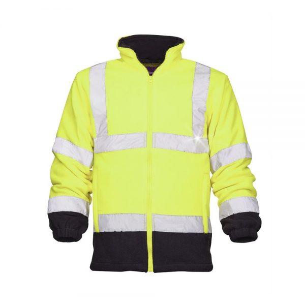 bluza fleece reflectorizanta ref401 galben
