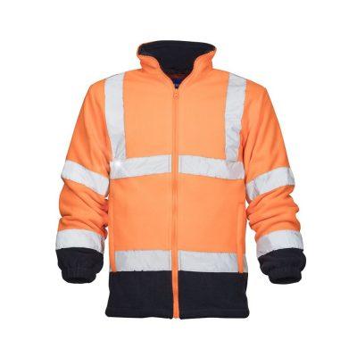 bluza fleece reflectorizanta ref402 portocaliu