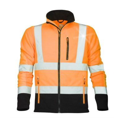 bluza fleece reflectorizanta signal portocaliu