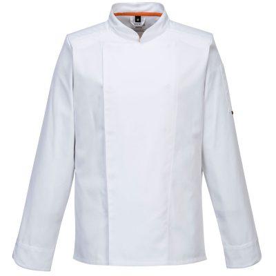 bluza cu maneca lunga pentru bucatari mesh air alb