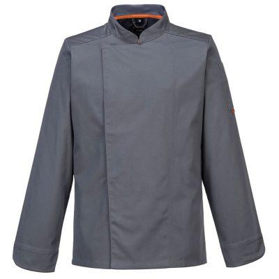 bluza cu maneca lunga pentru bucatari mesh air gri