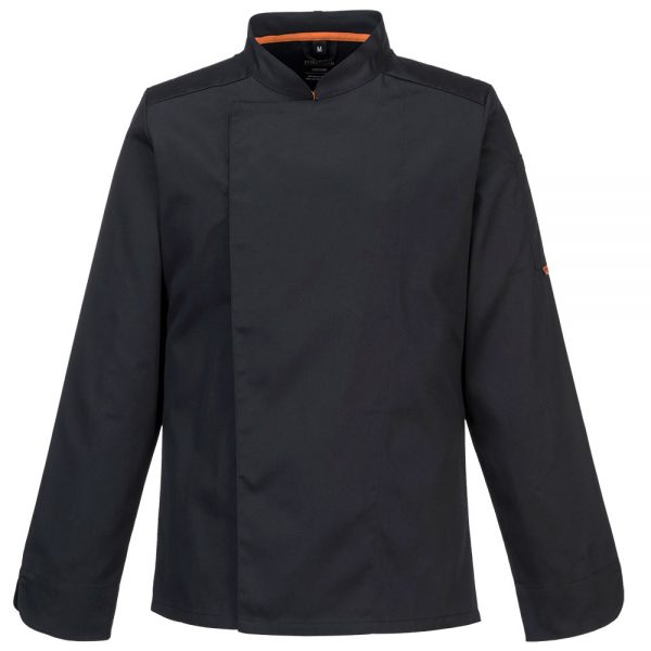bluza cu maneca lunga pentru bucatari mesh air negru