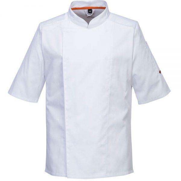 bluza cu maneca scurta pentru bucatari mesh air alb