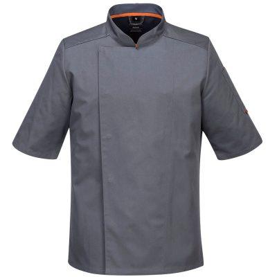 bluza cu maneca scurta pentru bucatari mesh air gri