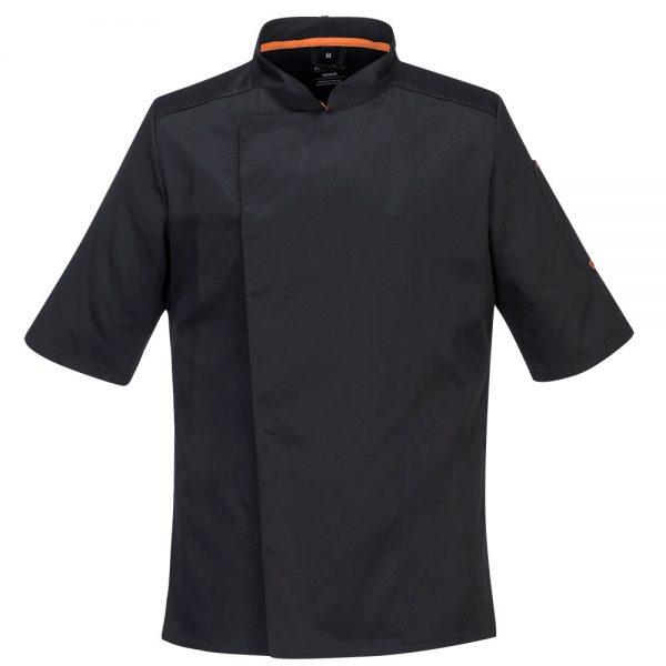 bluza cu maneca scurta pentru bucatari mesh air negru