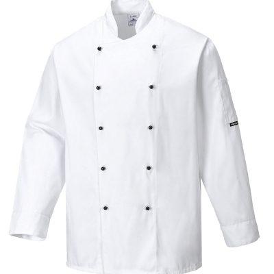 bluza cu maneca lunga pentru bucatari somerset chef alb