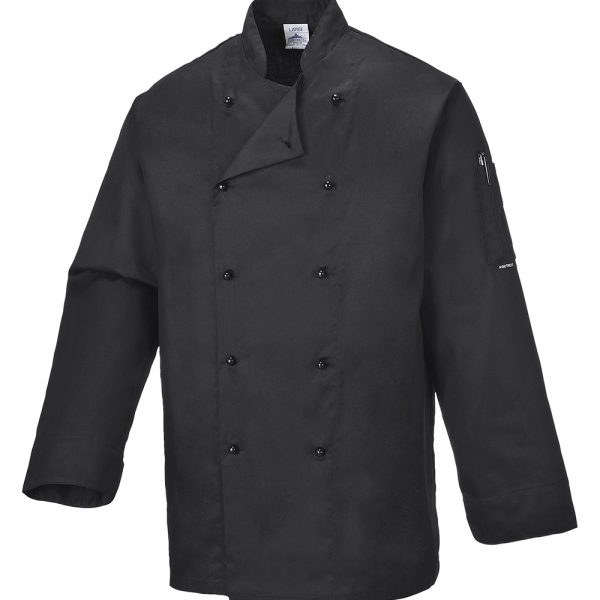 bluza cu maneca lunga pentru bucatari somerset chef negru