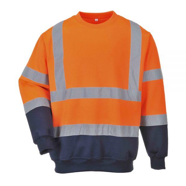 bluza reflectorizanta bicolora portocaliu