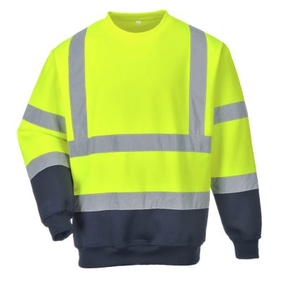 bluza reflectorizanta bicolora galben