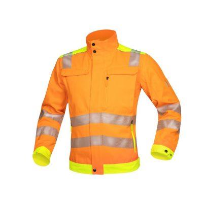 bluza salopeta reflectorizanta signal portocaliu
