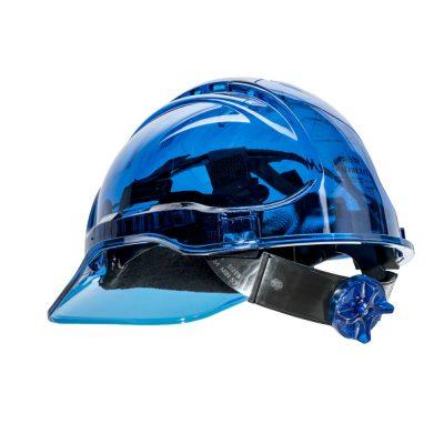 casca de protectie ventilata peak view albastru