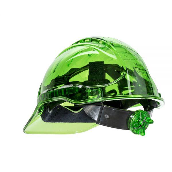 casca de protectie ventilata peak view verde