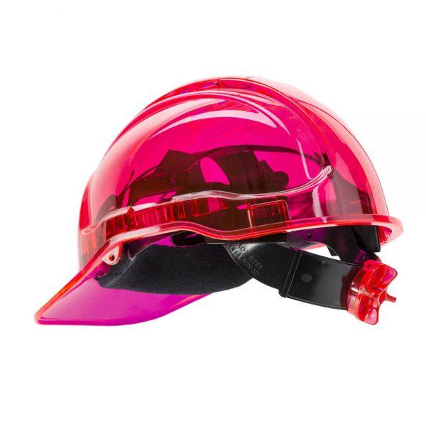 casca de protectie ventilata peak view roz
