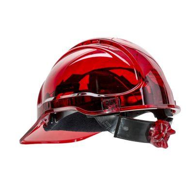 casca de protectie ventilata peak view rosu