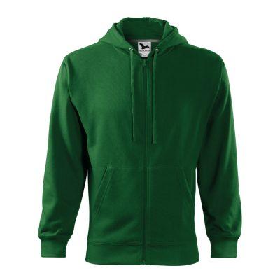 hanorac pentru barbati trendy zipper verde