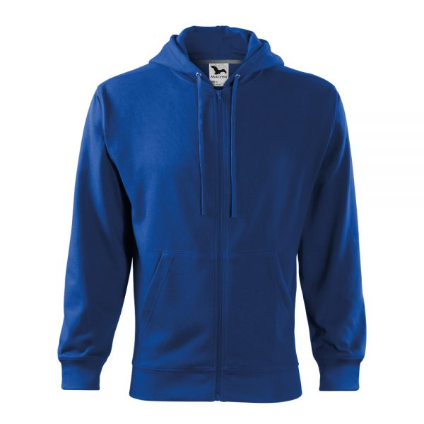 hanorac pentru barbati trendy zipper albastru