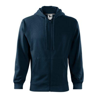 hanorac pentru barbati trendy zipper bleumarin