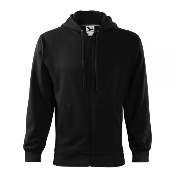 hanorac pentru barbati trendy zipper negru