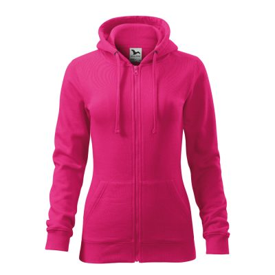 hanorac de dama trendy zipper fucsia
