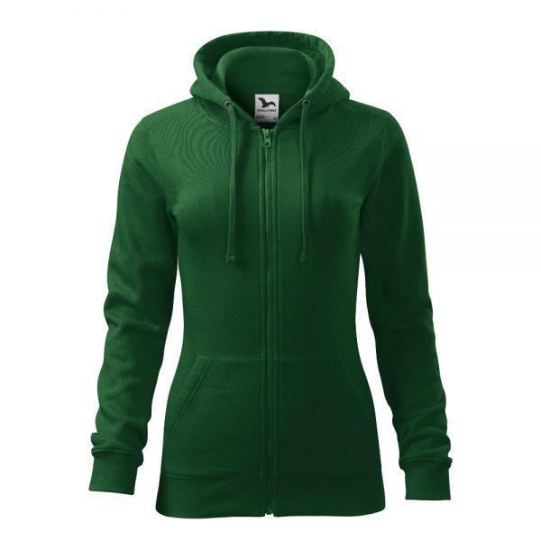 hanorac de dama trendy zipper verde
