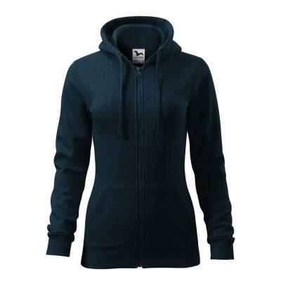 hanorac de dama trendy zipper bleumarin