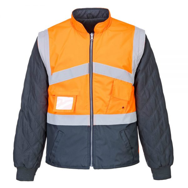jacheta reflectorizanta 2 tonuri reversibila