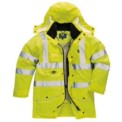 jacheta reflectorizanta traffic hivis 7 in 1 galben