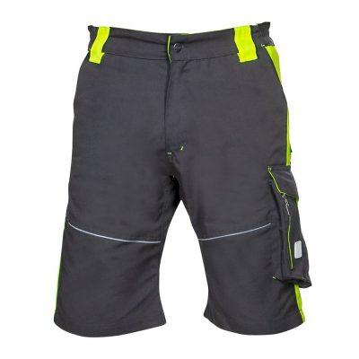pantaloni de lucru scurti neon galben