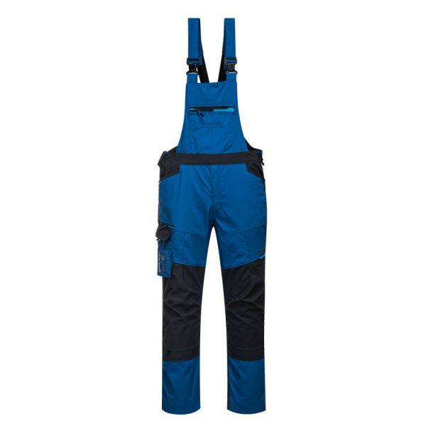 Pantaloni de salopeta cu pieptar WX3 albastru