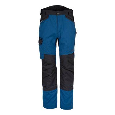 pantaloni de salopeta in talie wx3 service albastru