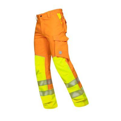 pantaloni reflectorizanti in talie signal portocaliu
