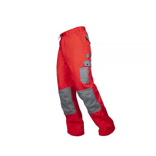pantaloni salopeta 2strong talie rosu cu gri