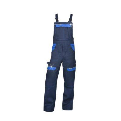 pantaloni salopeta cu pieptar cool trend bleumarin cu albastru