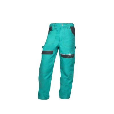 pantaloni salopeta talie cool trend verde cu negru
