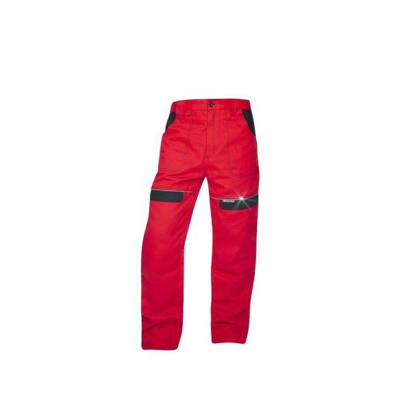 pantaloni salopeta talie cool trend rosu cu negru