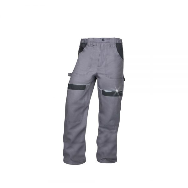 pantaloni salopeta talie cool trend gri cu negru