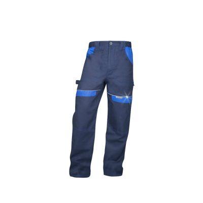 pantaloni salopeta talie cool trend bleumarin cu albastru
