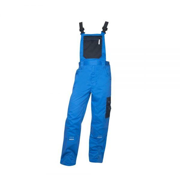 pantaloni de salopeta cu pieptar 4tech albastru