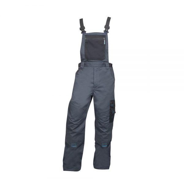 pantaloni de salopeta cu pieptar 4TECH gri