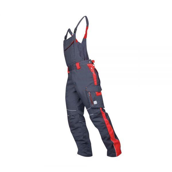 pantaloni de salopeta cu pieptar Neon rosu