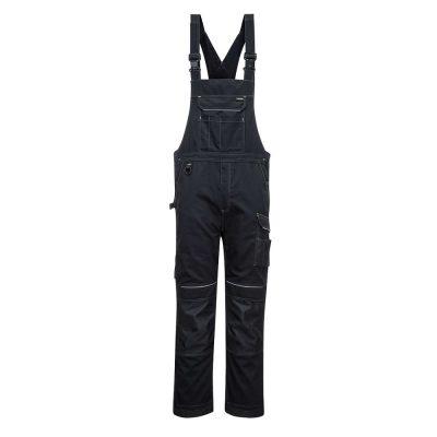 pantaloni salopeta cu pieptar pw3 negru