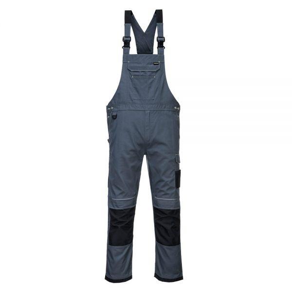 pantaloni salopeta cu pieptar pw3 gri
