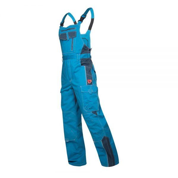 pantaloni de salopeta de lucru cu pieptar, din gama vision, culoare albastru