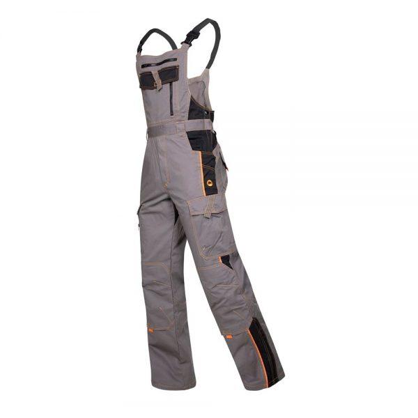 pantaloni de salopeta cu pieptar vision gri