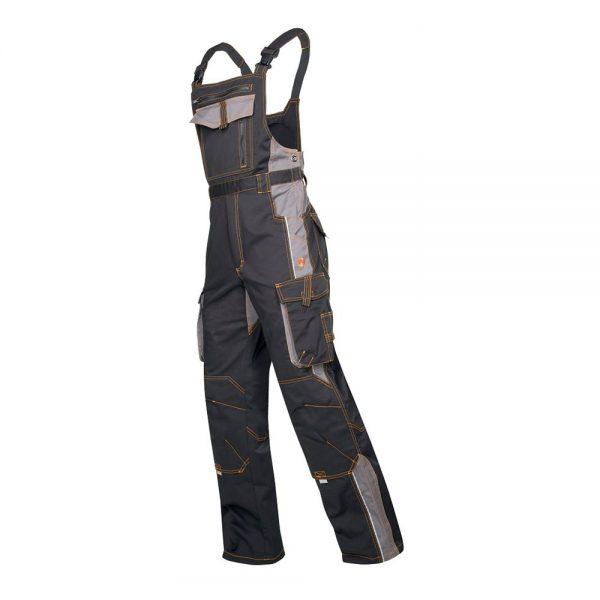 pantaloni de salopeta cu pieptar vision negru