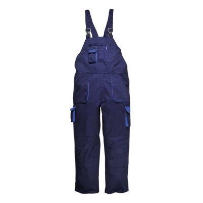 pantaloni salopeta de iarna cu pieptar texo bleumarin