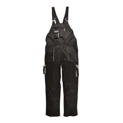 pantaloni salopeta de iarna cu pieptar texo negru
