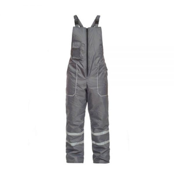 pantaloni salopeta de iarna gamma gri